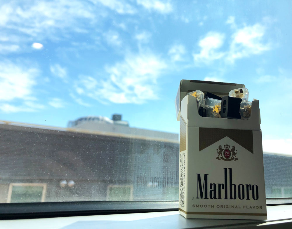 Juul pack of cigarettes