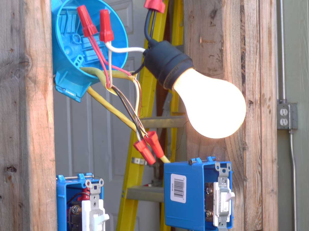 Wiring bulb - a practice example that worked