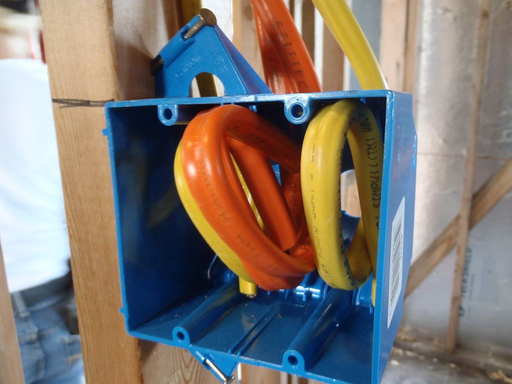 Electrical Box With Wiring Rough Electric Building Construction Sizes