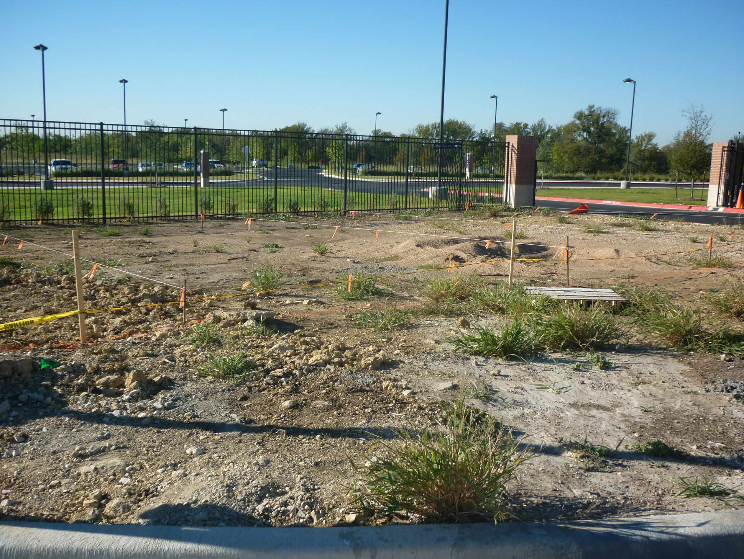 Round Rock site before Concrete work begins
