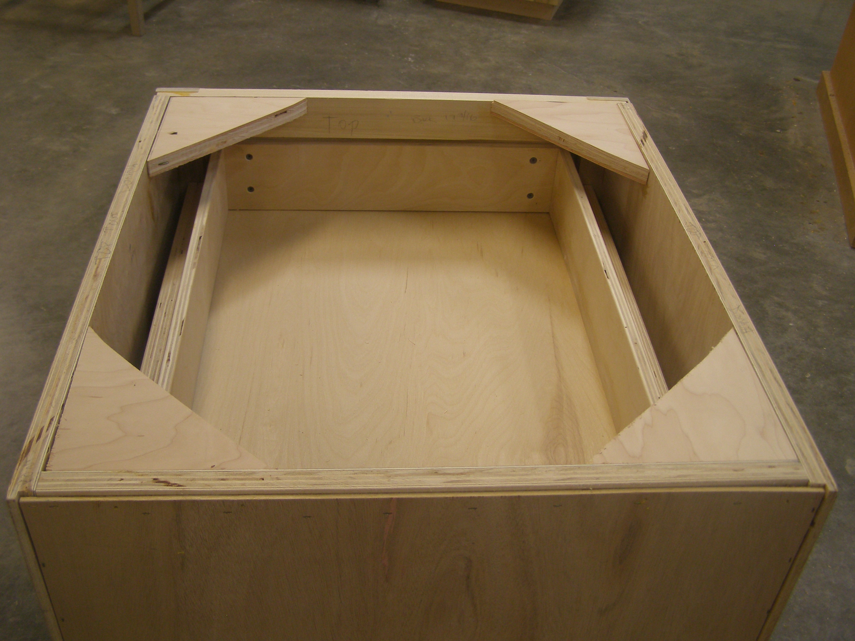 open top with drawer