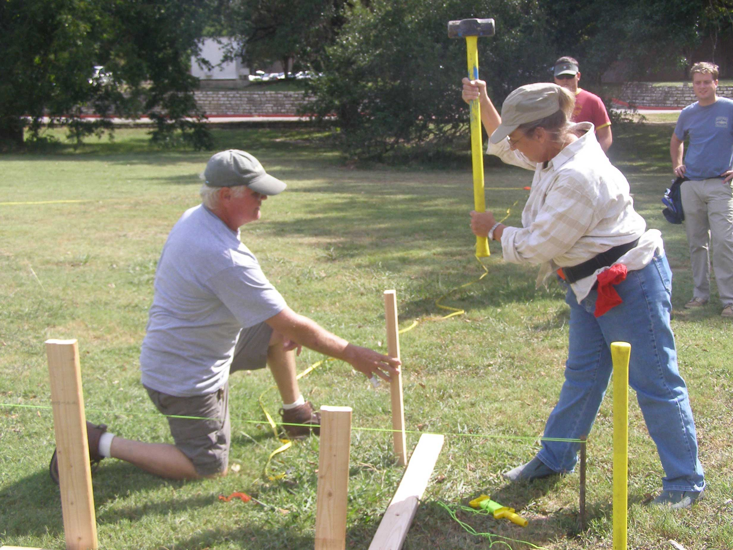 driving stakes for batter boards