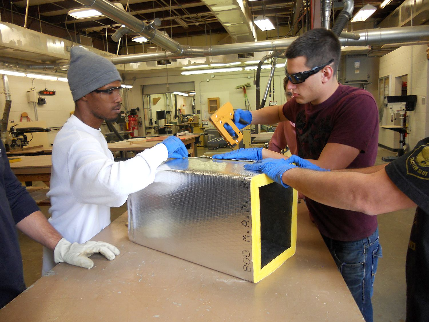 students make a section of hvac duct