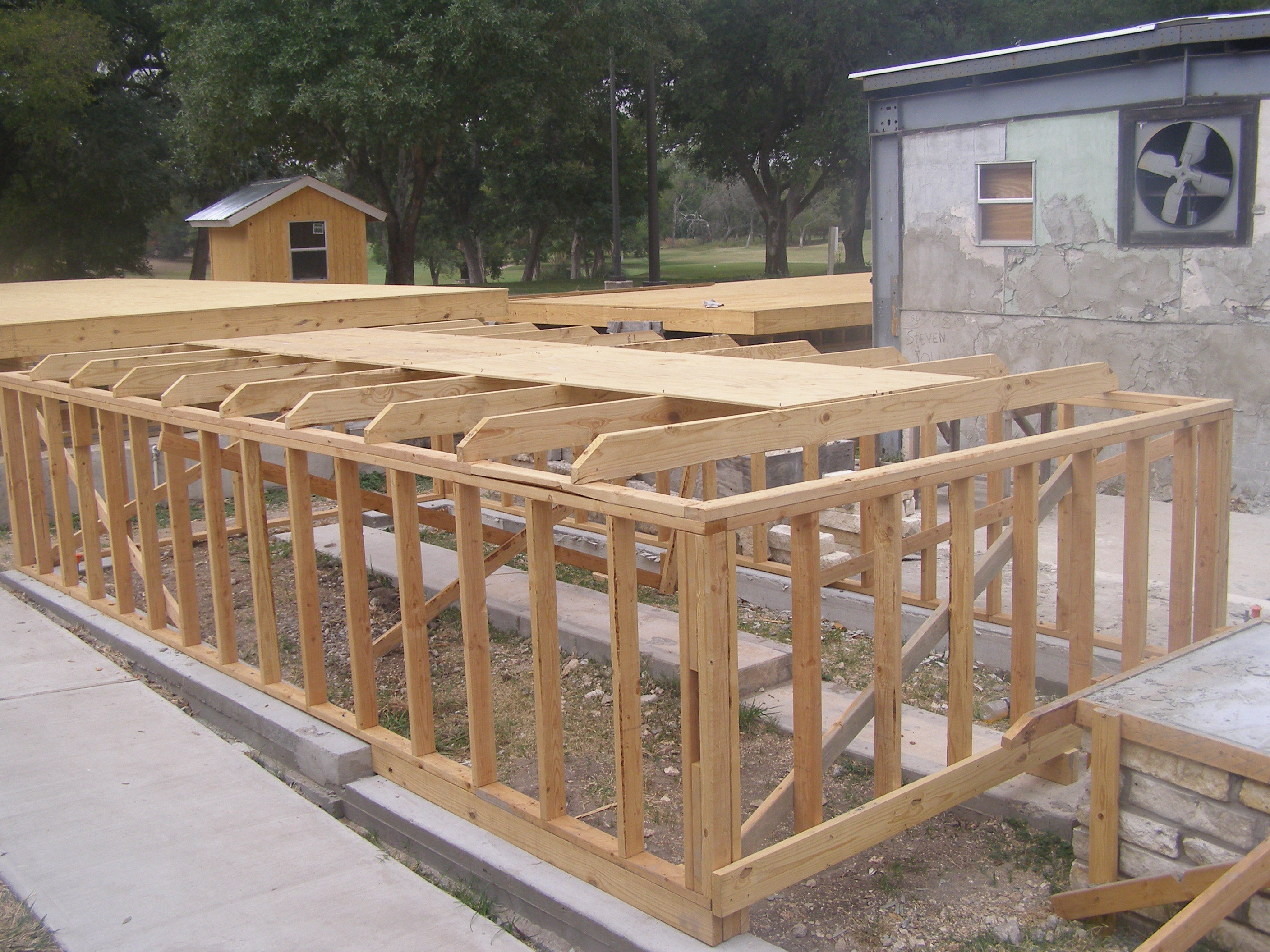 roofing base with joists