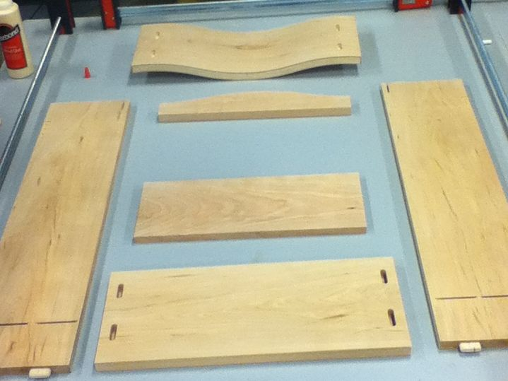 cut cabinet door pieces