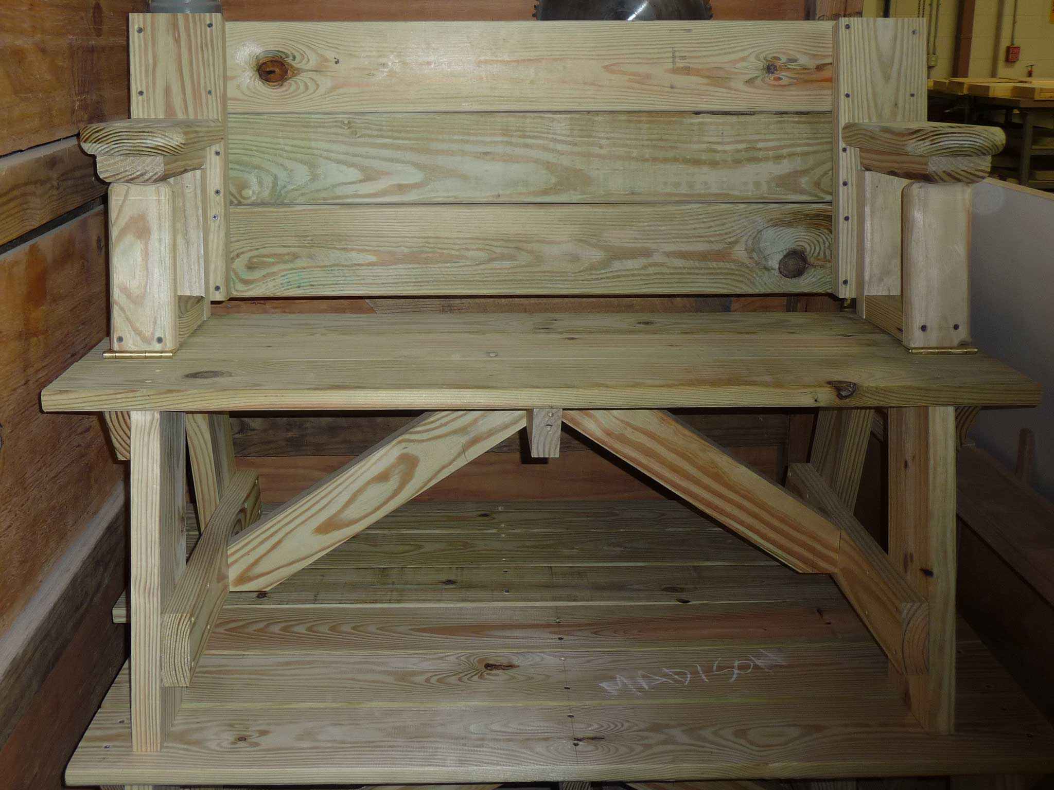 hinged bench-table