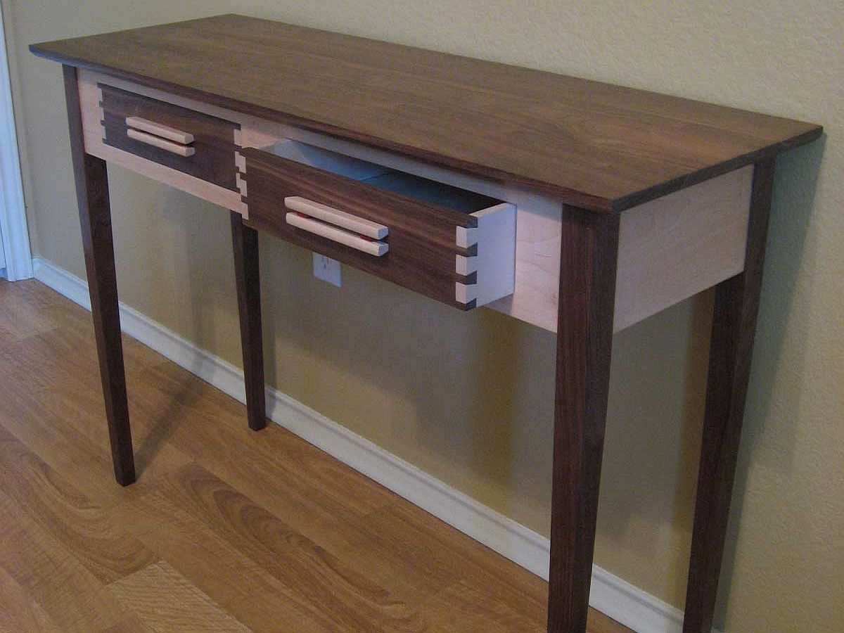 finished sofa table