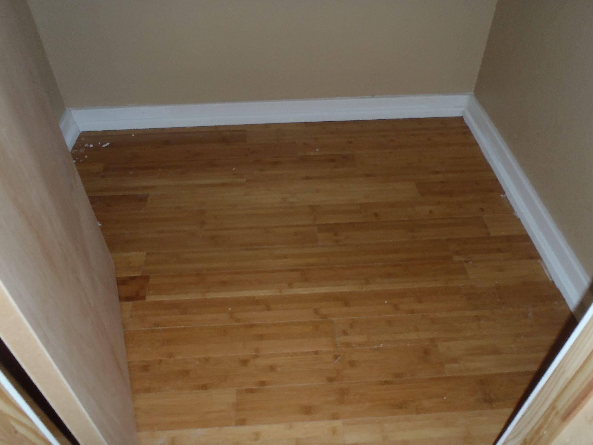 finished building closet floor