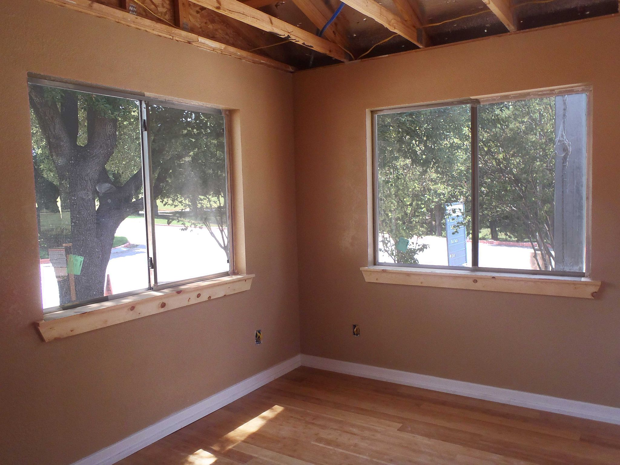 finished building interior windows