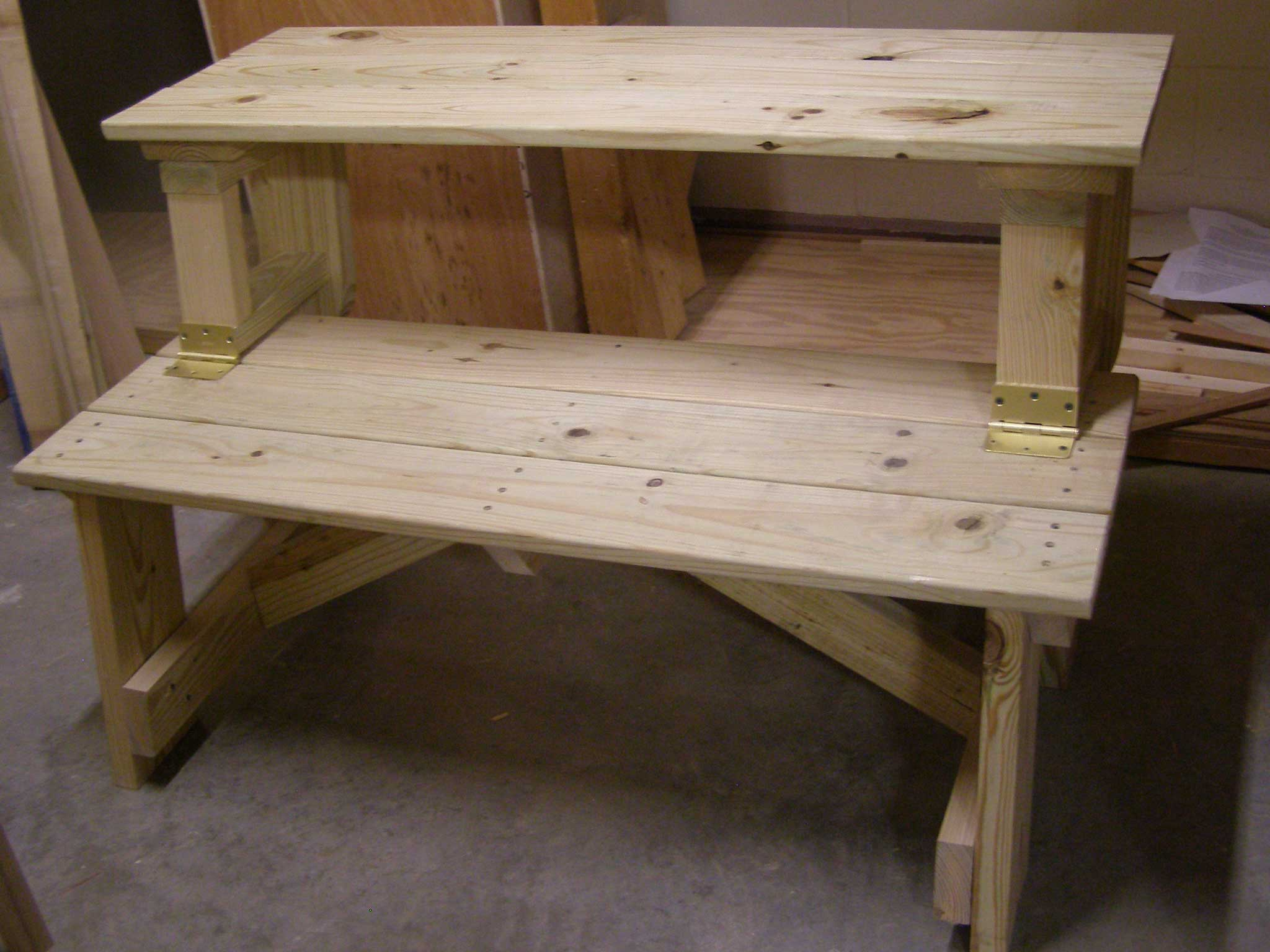 hinged table bench