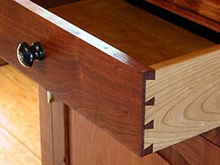 finished drawer with dovetails visible