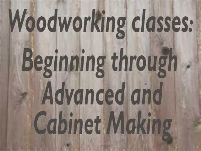 woodworking classes sign