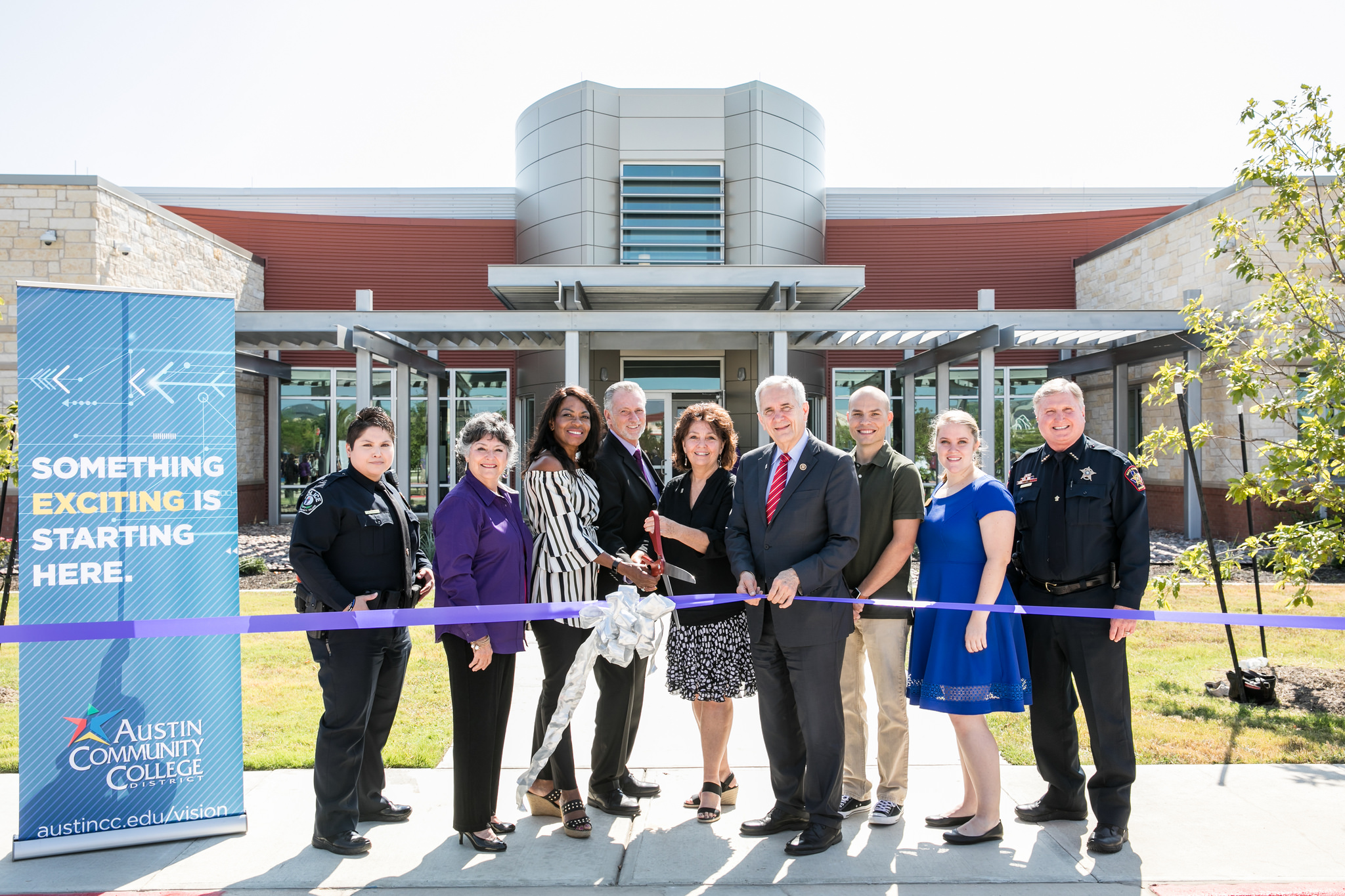 Public Safety Training Center at Hays Campus Grand Opening Ribbon Cutting