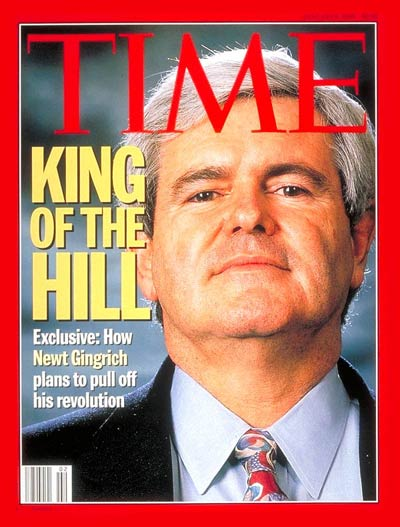 Newt Gingrich on TIME Magazine Cover