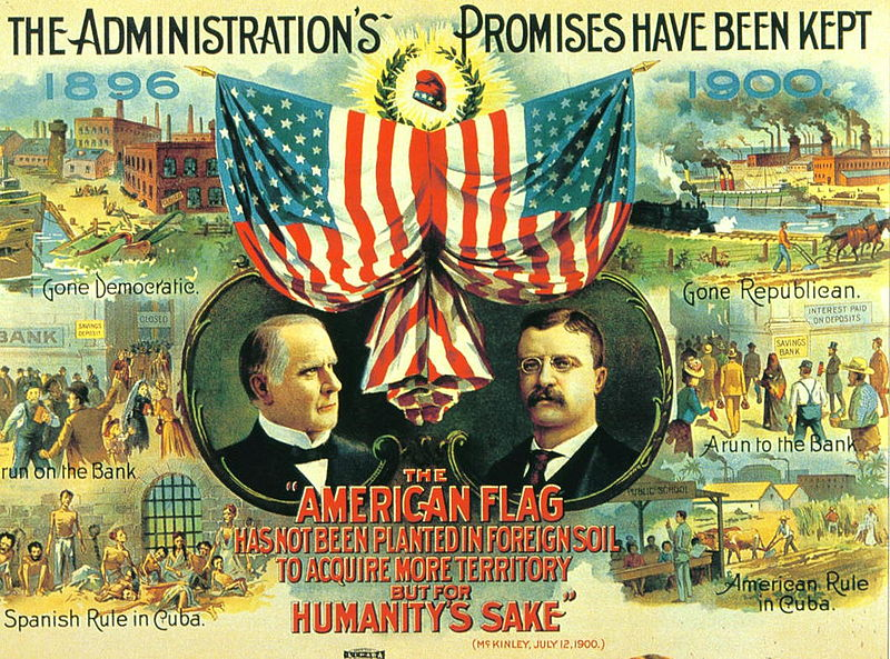 1900 McKinley-Roosevelt Campaign Poster