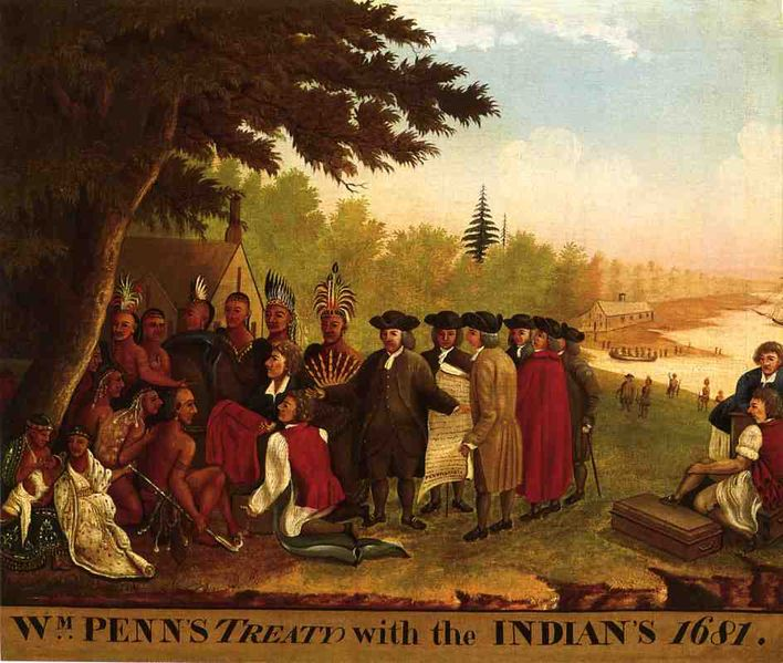 Penn's Treaty (with the Lenapi Indians), Edward Hicks, 1847