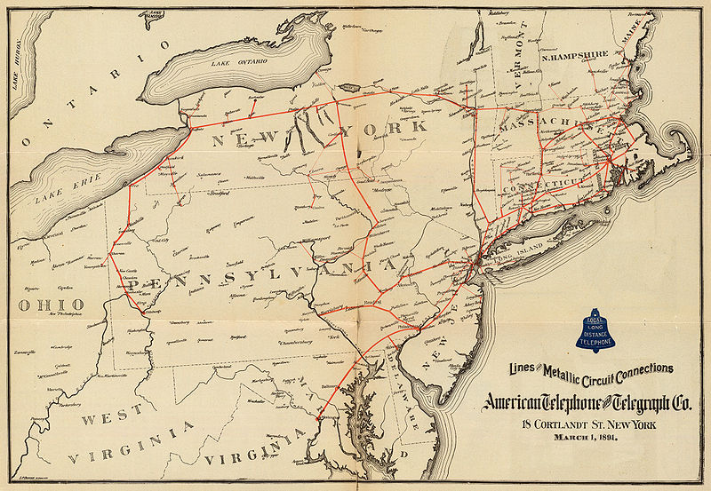 AT&T Northeastern Circuits, 1891