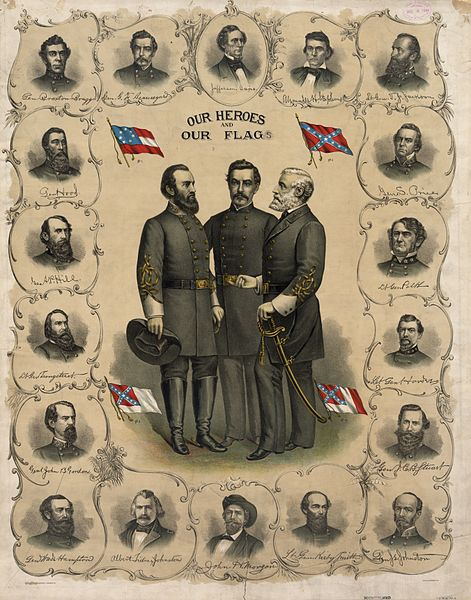 Color Lithograph From 1896 Showing Four Versions of the Flag of the Confederate States of America, Library of Congress