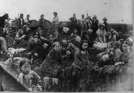 Refugees From Sioux Raid in Minnesota, 1862