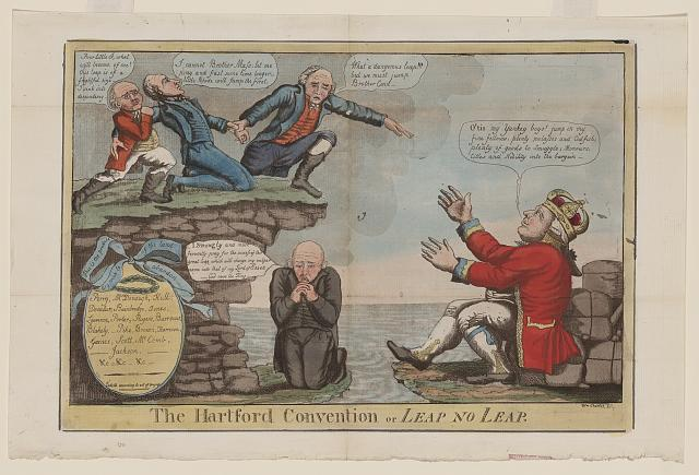 "Hartford Convention Cartoon or ""Leap or No Leap,"" Library of Congress"
