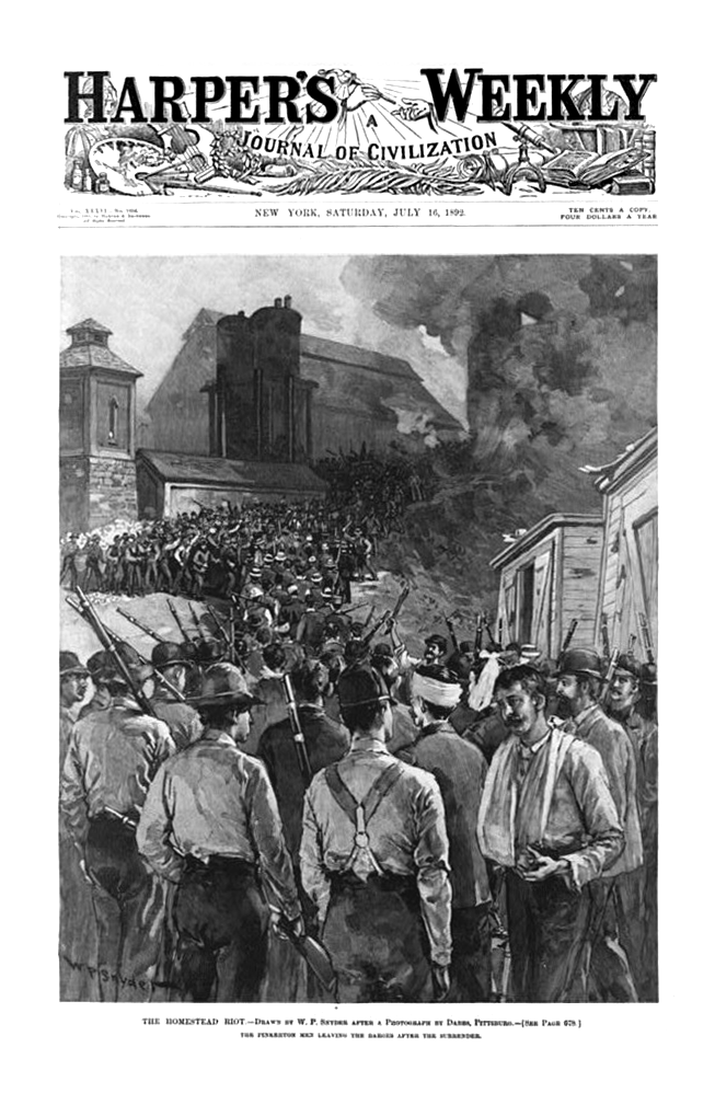 Homestead Riot Harper's Weekly Cover