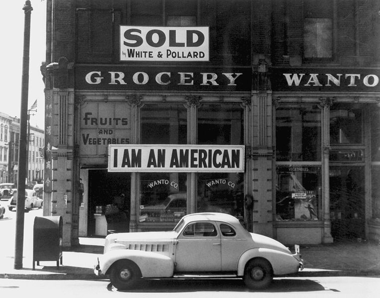 Japanese-American Grocer, 1942