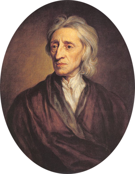 Portrait of John Locke, Sir Godfrey Kneller, 1697, Collection of Sir Robert Walpole, Houghton Hall, 1779