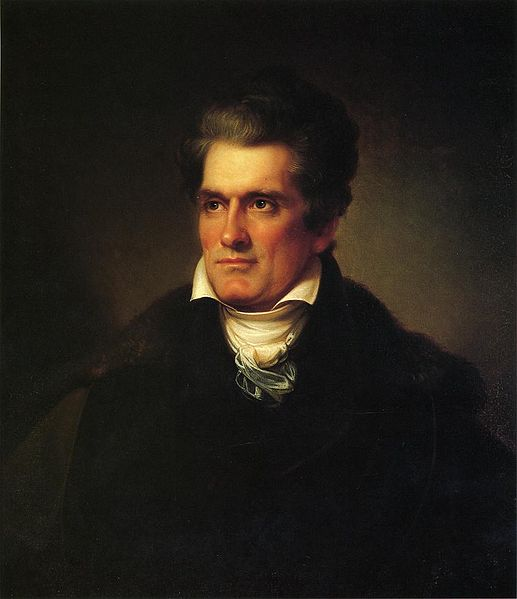 John C. Calhoun, by Rembrandt Peale, 1834, Gibbes Museum of Art