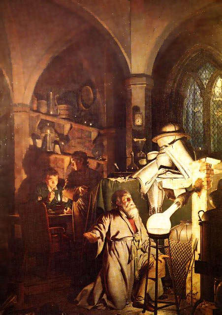 The Alchymist, Joseph Wright of Derby, Derby Museum & Art Gallery