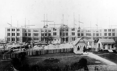 Texas State Capitol Building Under Construction, 1886