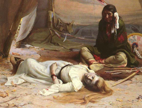 The Captive (Lorinda Bewly w. Cayuse Chief Five Crows), Irving Couse, 1891