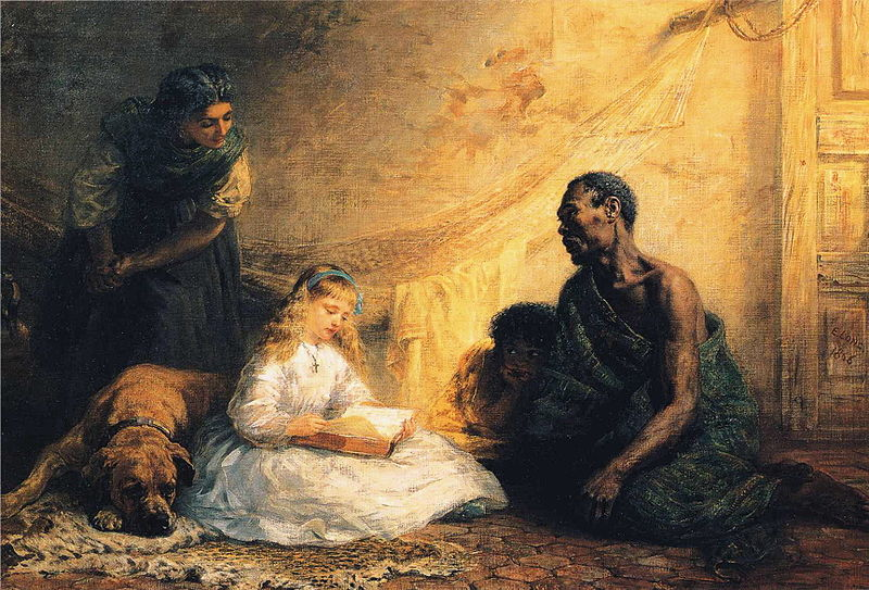 Uncle Tom and Little Eva, Edwin Long, 1866