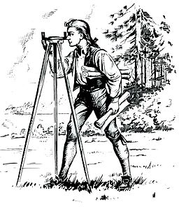 Young George Washington Surveying in Pennsylvania, 1755