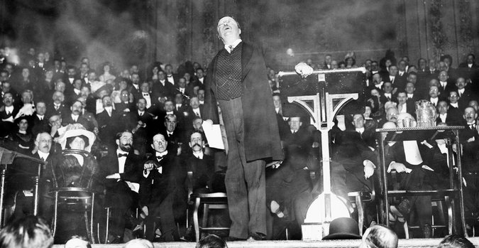 """Teddy Roosevelt Imploring the GOP to """"Let the People Rule"""" @ Carnegie Hall, New York City, March 1912, Library of Congress"""