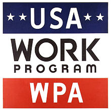 Works Progress Administration Sign, Artist Unknown, National Archives