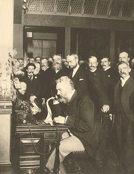 Bell Inaugurating New York-Chicago Phone Line, 1892, Library of Congress
