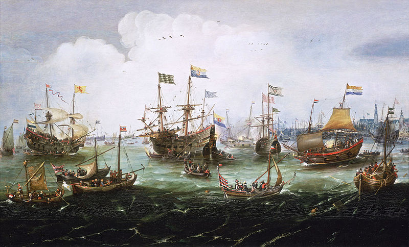 The Return to Amsterdam of the Second Expedition to the East Indies on 19 July 1599, by Andries van Eertvelt, ca. 1610-20