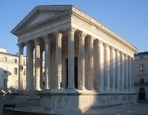 The Classical Maison Carrée in Nîmes, France Inspired Buildings Like Jefferson's Virginia State Capitol and the Supreme Court, WikiCommons