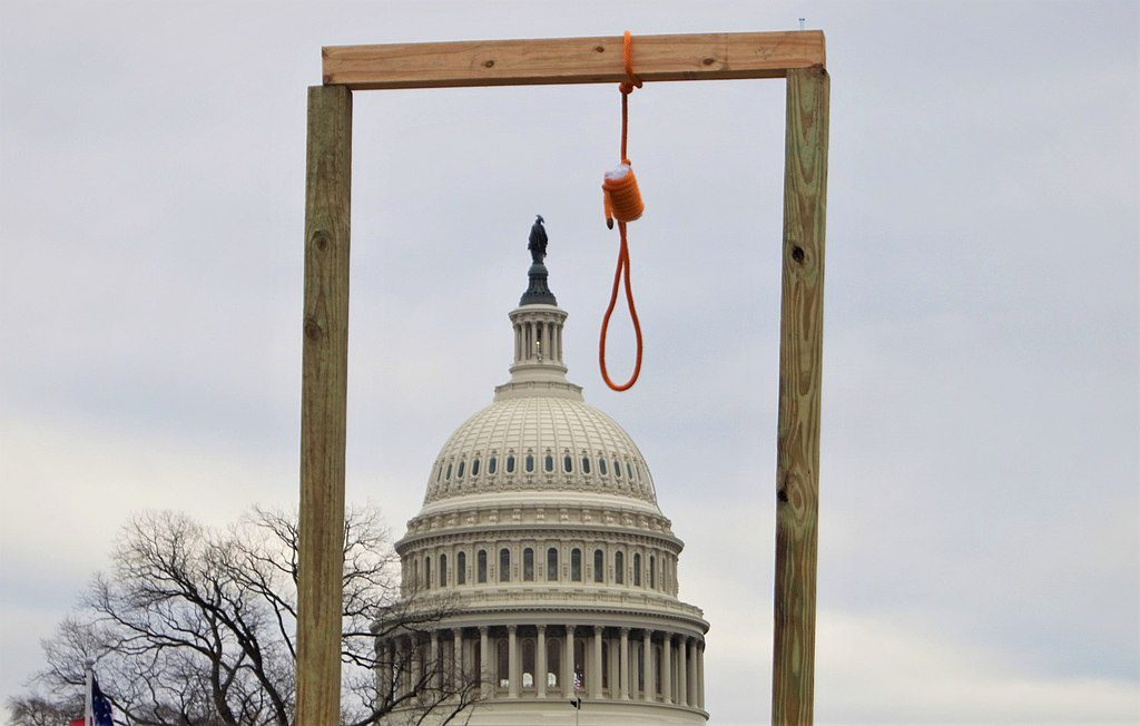 (Symbolic?) Gallows Intended For Trump's VP Mike Pence Outside Capitol, 1.6.21