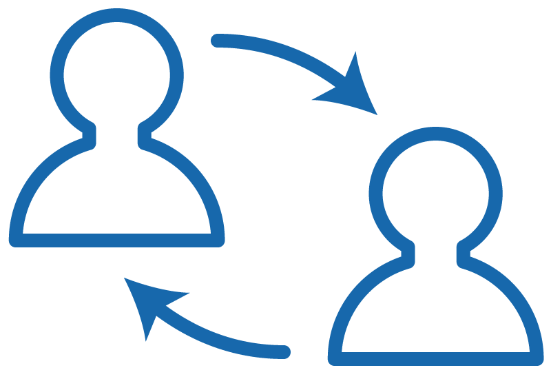 Graphic of people connecting