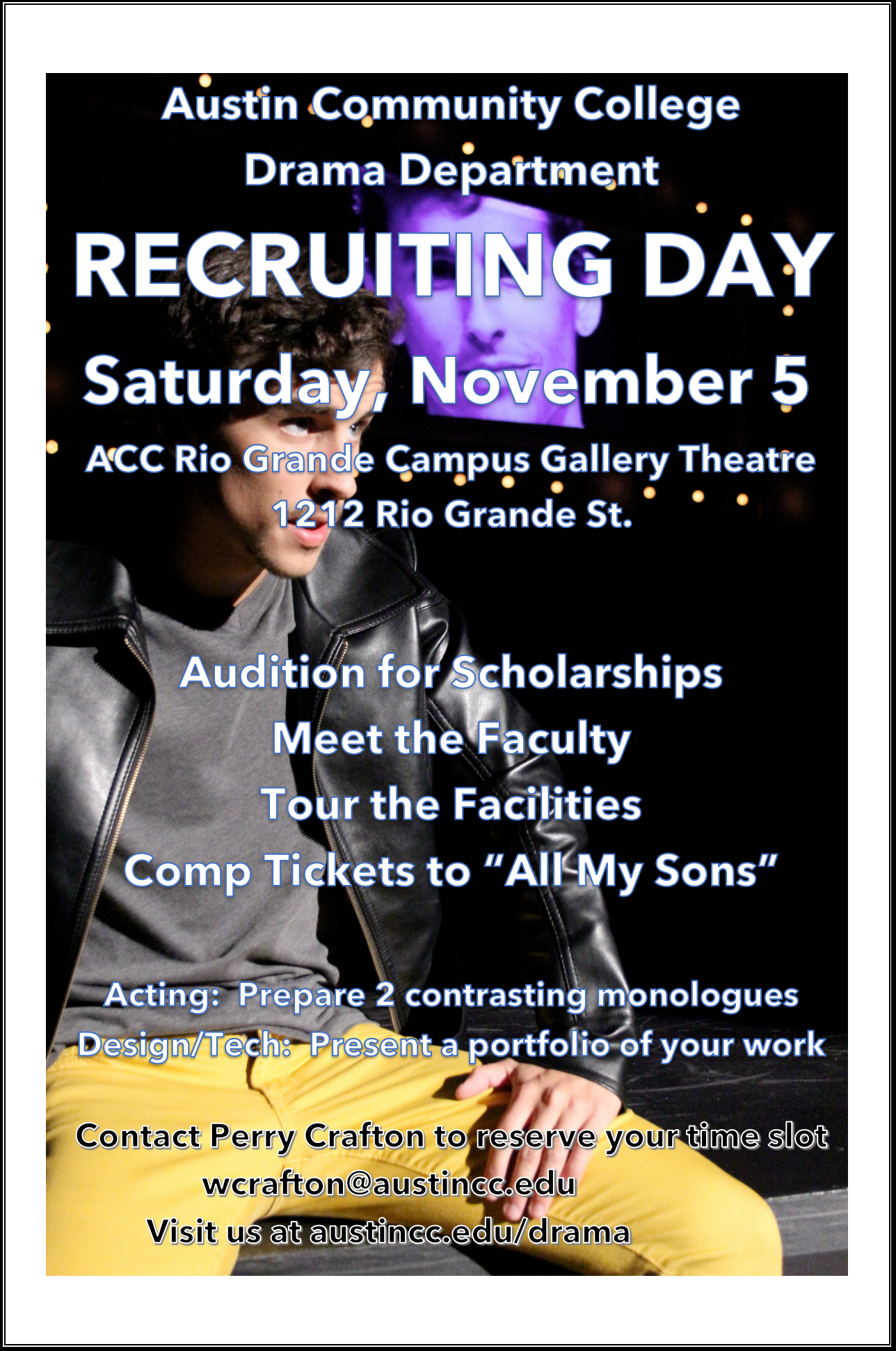Flyer for Recruiting Day on Saturday November 5.