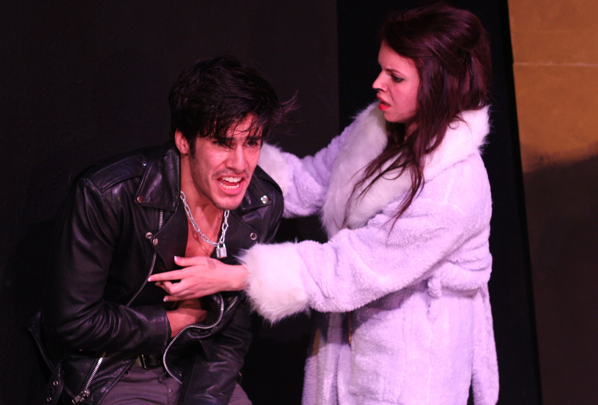 Pablo Munoz as Coyote and Noella Schluter as Cat