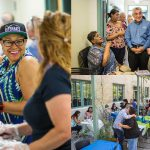 """Rio Grande Campus faculty and staff gathered for a """"sweet ending until a new beginning"""" barbecue lunch Friday, May 5. The main building (Building 1000) of the campus will close at the end of the semester in advance of a 2½ -year renovation project."""