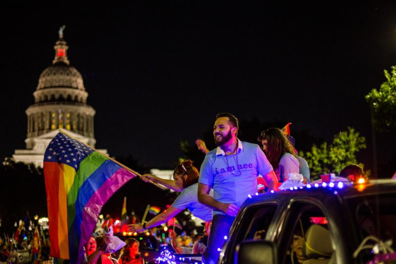 The ACC LGBT eQuity Committee, students, faculty, and staff march in the 27th annual Austin Pride Parade on Saturday, September 30. See photos from the event.
