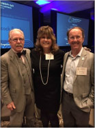 John Henry McDonald, Board member, Sandi Waeltz, and Mike Shaw, Board Chair, at the 2017 AFP Philanthropy Day Luncheon