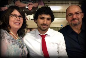 Current ACC Rodeo Austin Scholarship recipient ,Phillip Ochoa, and his parents attended the dinner and rodeo.