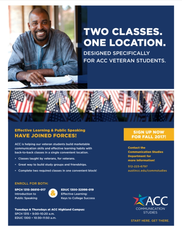 Fall 2017 Veterans Course Flyer