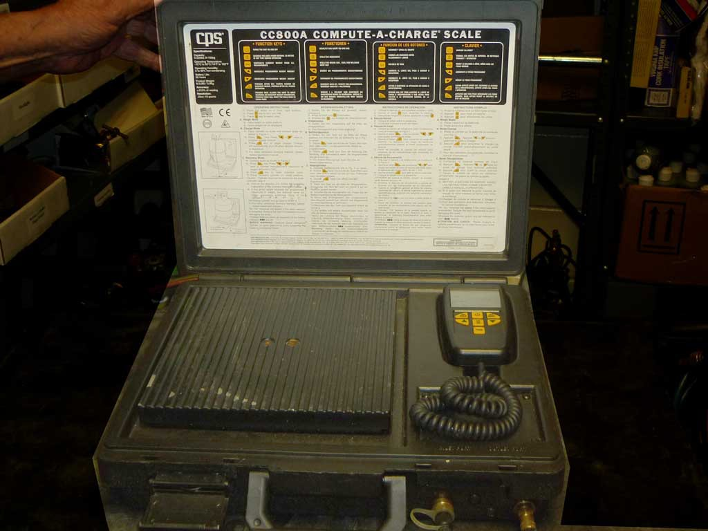 electronic refrigerant recovery scale