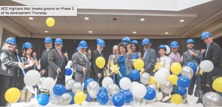 ACC Highland Mall breaks ground on Phase 2 of its development