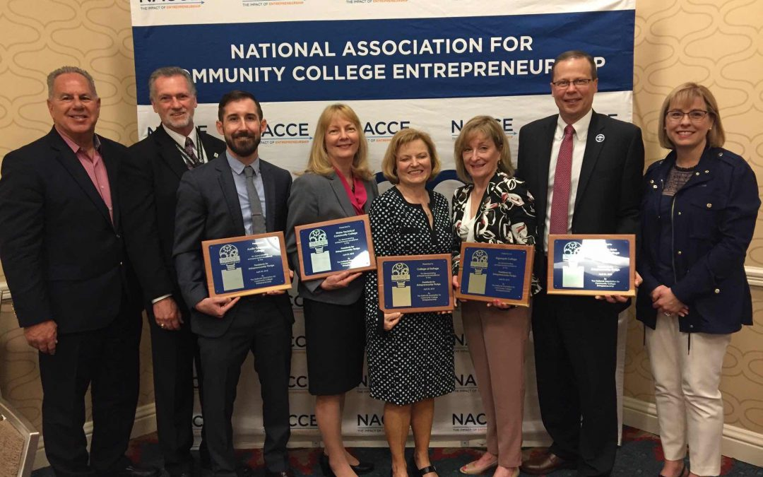 NACCE Honors Five Community Colleges for Entrepreneurial Excellence